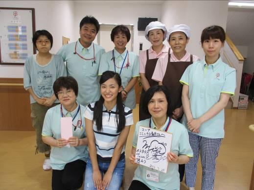 テレビ取材でAKBのメンバーがここハウス湯田に・・・