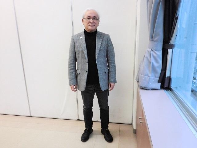 「スポーツボランティアは楽しいからこそ続けていける」と泉田和雄さん。「長時間のエコ活動や観客対応など大変なことも多いのですが、その場にいられる幸せというのがある」と言います。